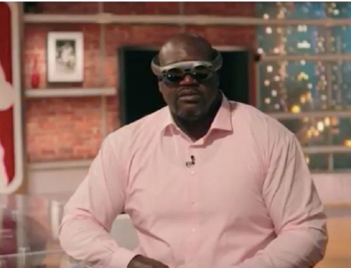 Shaquille O'Neal wearing Magic Leap's new AR glasses